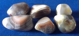 Agate - Grey Banded (1-2cm) x 6